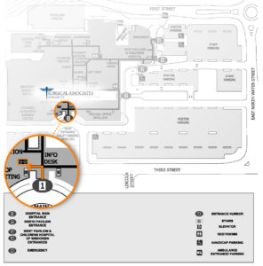 Surgical Associates campus map